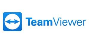 Downloads,Teamviewer Logo, Fernwartung, TeamViewer Logo mit weißem Hintergrund