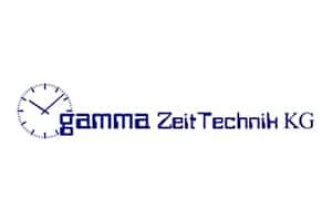 Partner Logo Gamma Zeittechnik, Logo Gamma Zeittechnik