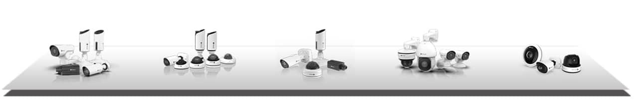 Produkte, Videokameras, Übersicht Videokameras, Übersicht Videotechnik, Verschiedene Videokameras, Foto Hintergrund weiß